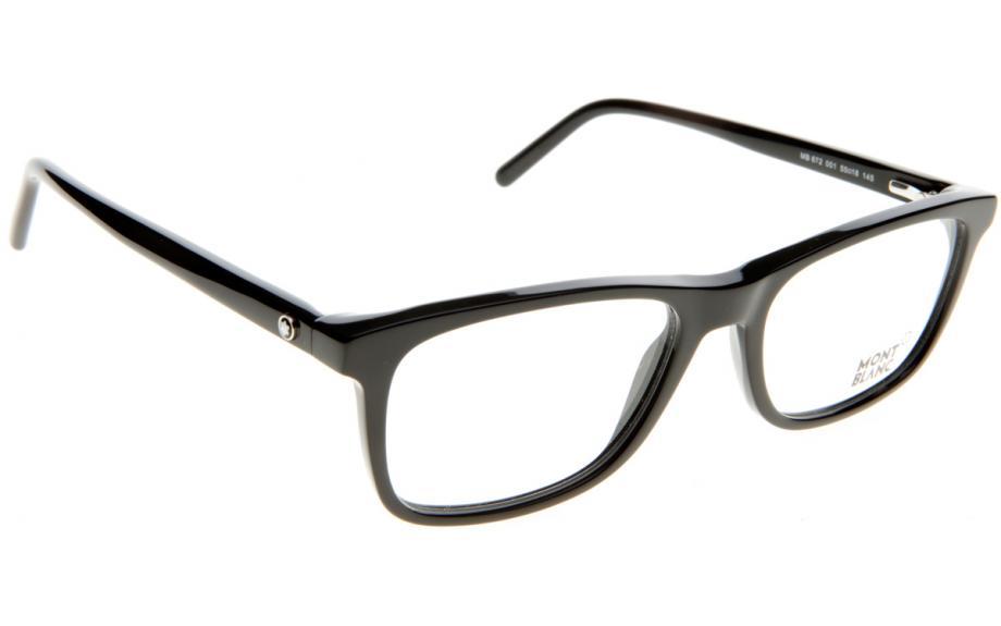 49b6b0fb39a5 Mont Blanc MB0672 001 55 Glasses - Free Shipping